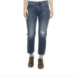 Levis Made & Crafted Slim Crop Jeans 29 Distressed